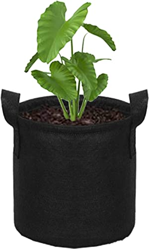 HIPPO - Non Woven Fabric - Grow Bag Pots for Plants & Gardening - Black Color (8 Inch X 10 Inch, 3 Bags)