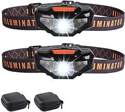 2 Mini LED Headlamps Flashlights,Waterproof Sport Headlight,Bright Running Head Lamp,Best for Jogging,Hiking,Biking,Campin...