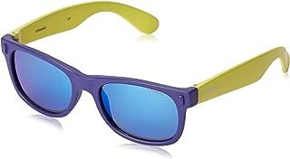 Polaroid - P0115 - Occhiali da sole Bambini Rettangolare - Polarizzati - Materiale leggero - 100% UV400 protezione - Custo...