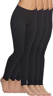 Felina | Velvety Soft Lightweight Leggings | Moisture Wicking | Yoga | 4 Pack