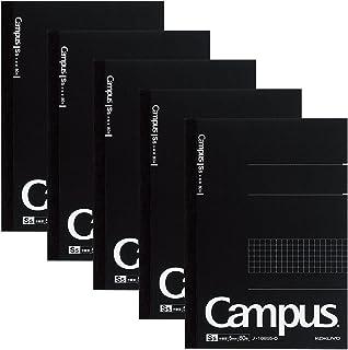 コクヨ ノート キャンパスノート 大人キャンパス 方眼罫 A5 80枚 5冊パック ノ-108S5-DX5SET 黒