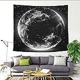 GenericBrands Luna Lunar Tapestry Galaxy Notte Cielo Stellato Sfondo Luna Grande Decorazione in Stoffa Appeso a Parete per Soggiorno Camera da Letto