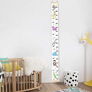 Tabla de Crecimiento para niños,Tukistore decoración de la habitación Infantil, Tabla de Crecimiento Niño de Estatura de medidor Pared Infantil de gráfica de Altura Colgante en la habitación