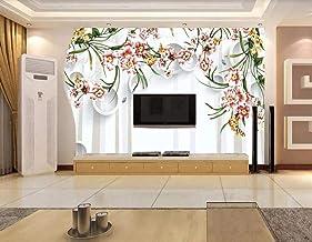 Wallpaper 3D Circle Rose Modern Decoration Home Bedroom Box Decoration Salon 3D Behang Slaapkamer Decoratie Muurschilderin...