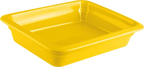 Paderno World Cuisine 44315Y06 Induction or Porcelain Hotel Pan, Small, Yellow