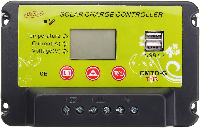 Werse 30A Solar Panel Ladung Pwm Controller Controller Controller Regler Lcd 12V 24V B07HG5JKLR | Kompletter Spezifikationsbereich  9954e0