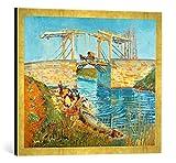 Kunst für Alle '–Fotografía enmarcada de Vincent Van Gogh El Puente de Langlois en Arles con wäsch...