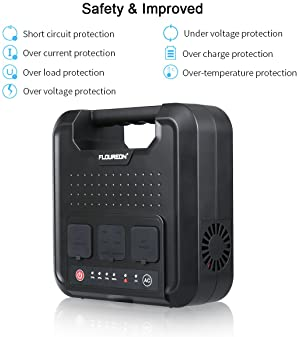 FLOUREON 220Wh Portable Power Generator,Power Station Home Solar Generator Lithium Battery Backup Power Supply