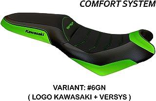 Bezug für Sattel Kawasaki Versys 650 Mod Elba 2 Comfort System Tappezzeria Italia grün