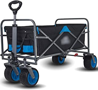 Hand Trucks Large-capacity Adjustable Mute Garden Cart, Utility Wagon With 4 7-inch PU Wheels, With 2 Storage Bags, No Nee...