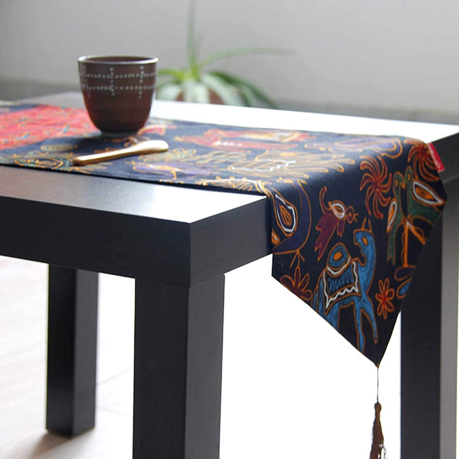 Cotton and Linen Table Runner Ideal for Coffee Table Runner DiningTable Runner or Kitchen Table Runner,bluee,30  160cm