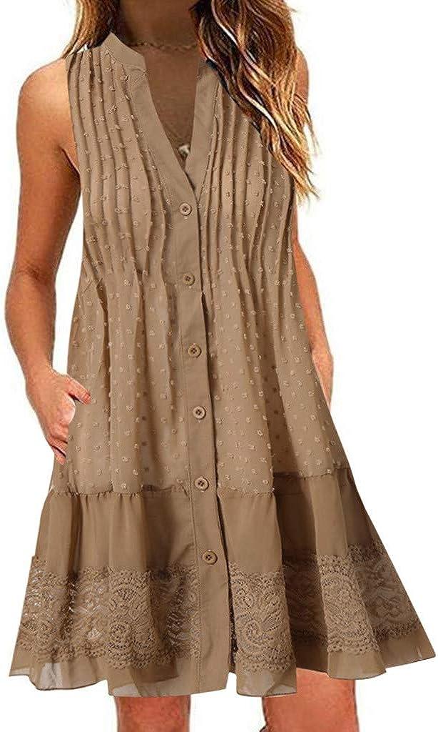 LINKIOM Womens Casual Half Sleeve Loose Dress Ladies Evening Long Maxi Dress