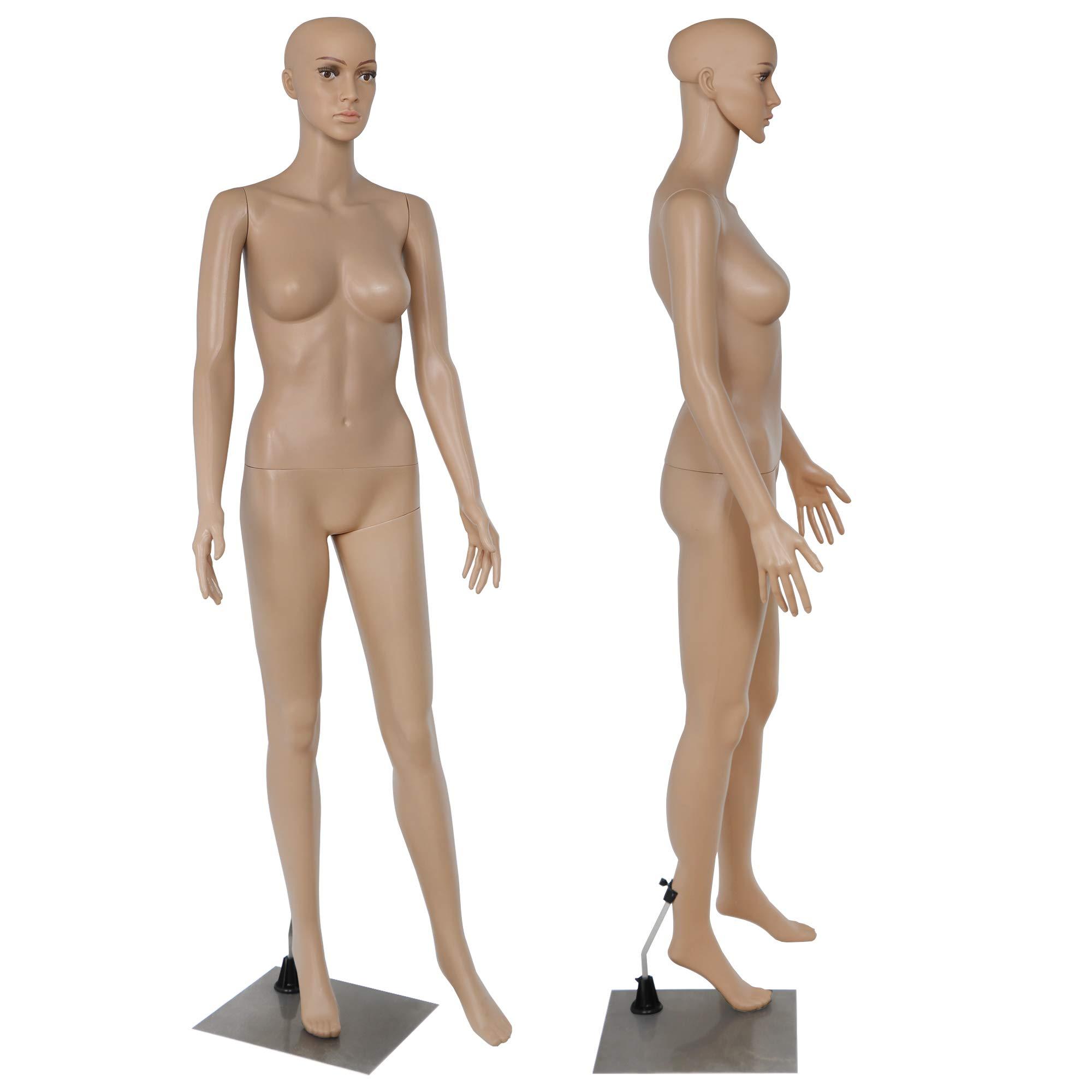Yaheetech 68.9 Female Mannequin Torso Dress Form Display W//Base Plastic Slapped Adjustable Dressmaker Dummy Detachable