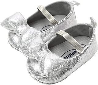 lakiolins Baby Girls Shiny Sequins Dress Shoes Glitter Bowknot Ballet Flats Mary Jane