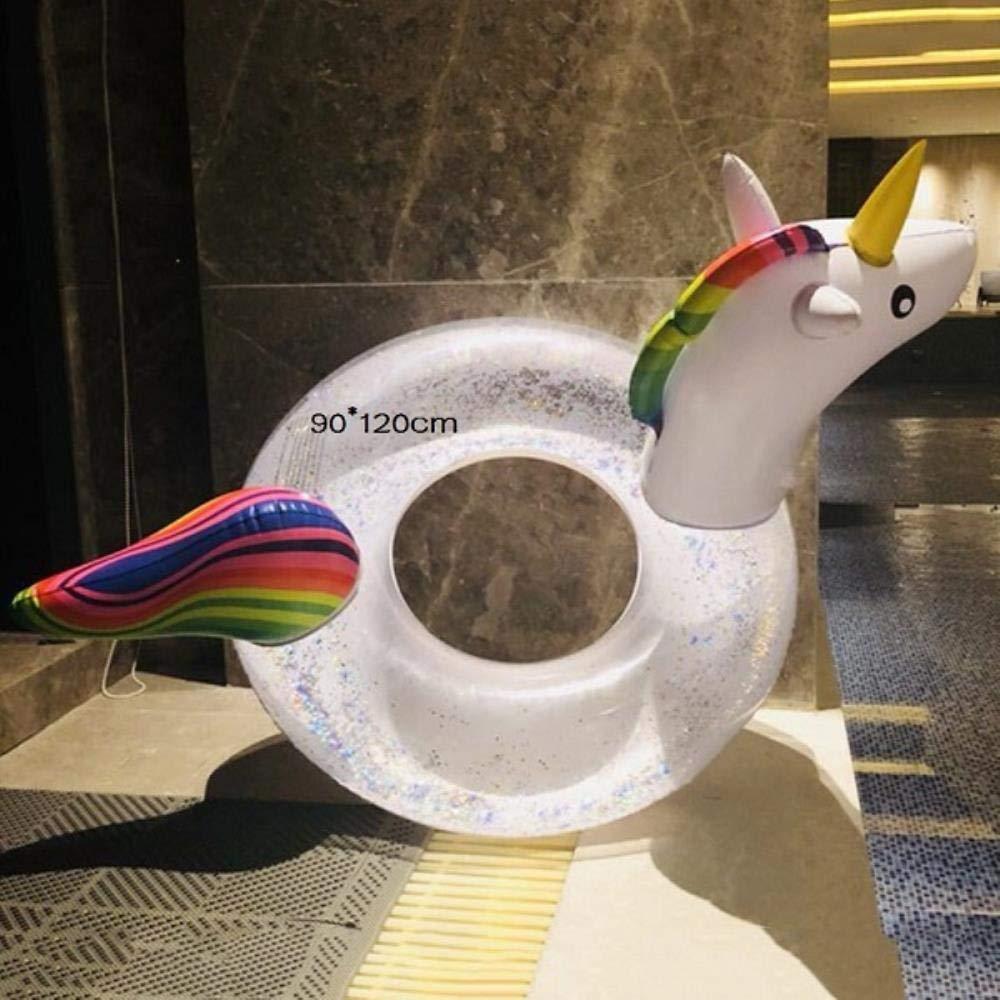 OGAWOO 90 * 120/175 * 120 cm Brillante Unicornio Piscina Inflable ...