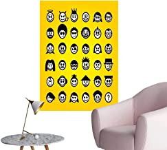 SeptSonne Wall Decals Smiley Faces Characters Environmental Protection Vinyl,16