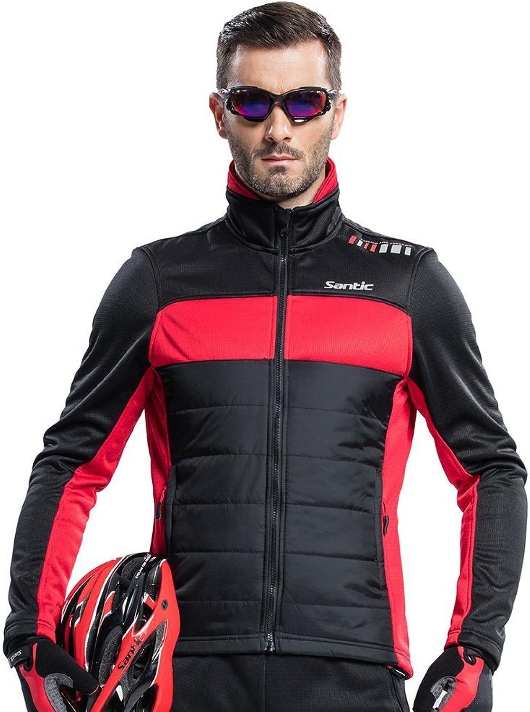 SANTIC Men's Cycling Jacket Winter Coat Windproof Thermal Lo