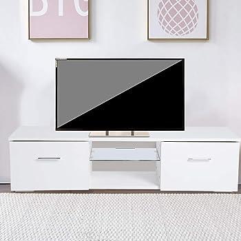 Mueble TV Salón Moderno con Cajons 110 x 30 x 28cm, Estante de ...