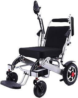 Sillas de ruedas eléctricas para adultos Bangeran Silla de ruedas eléctrica plegable ligero de 50 libras con baterías de servicio pesado Soporta 360 libras grado de los aviones de aleación de aluminio