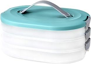 Valink Domowe pudełko do przechowywania pierogów Wonton wielowarstwowe pudełko do szybkiego zamrażania klasy spożywczej
