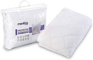 Hogar Protector de colchón Acolchado | Microfibra | Transpirable | Elástico en Todo el perímetro | Fácil colocación (150_x_190_cm, Microfibra de Algodón)