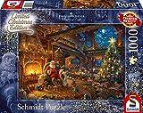 Schmidt - 59494 - Puzzle Thomas Kinkade - Père Noël et Son Lutin édition limitée - 1000 pièces - Multicolore
