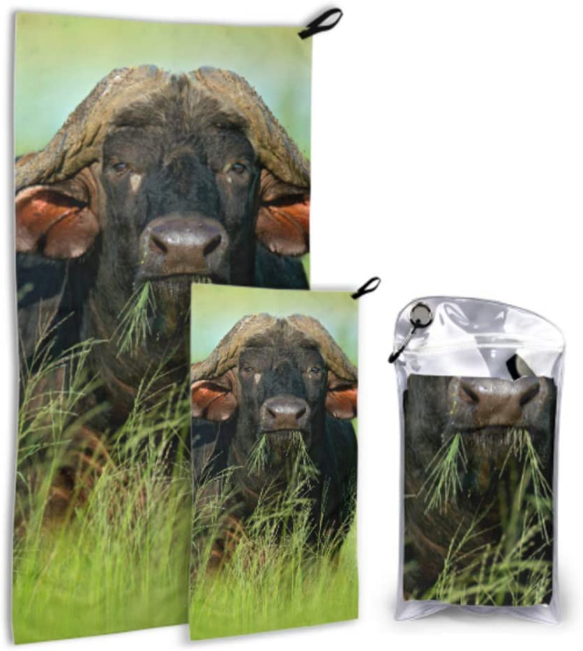AIKENING Violent Barbaric famous Cow 2 Microfiber List price Me Camping Pack Towel