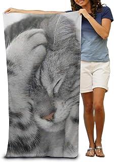 80 x 130 cm di Grandi Dimensioni Vilico Asciugamano da Spiaggia in Microfibra con Gatti Gatti ad Asciugatura Rapida