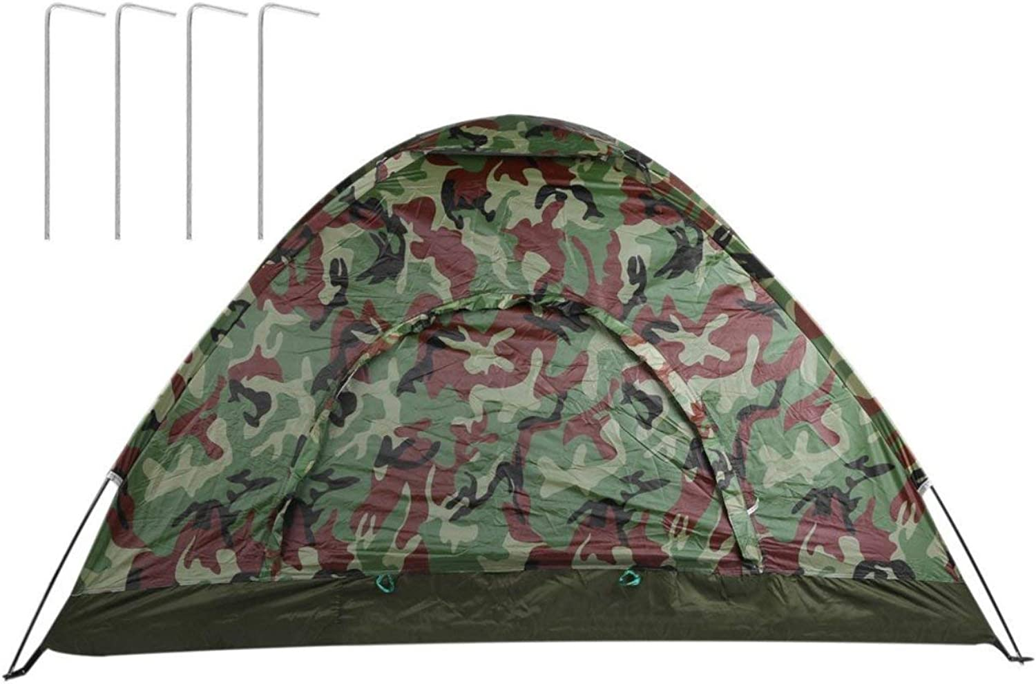 Liobaba Single Layer Camping Tent Camouflage Waterproof Fishing Hunting Tent Wigwam