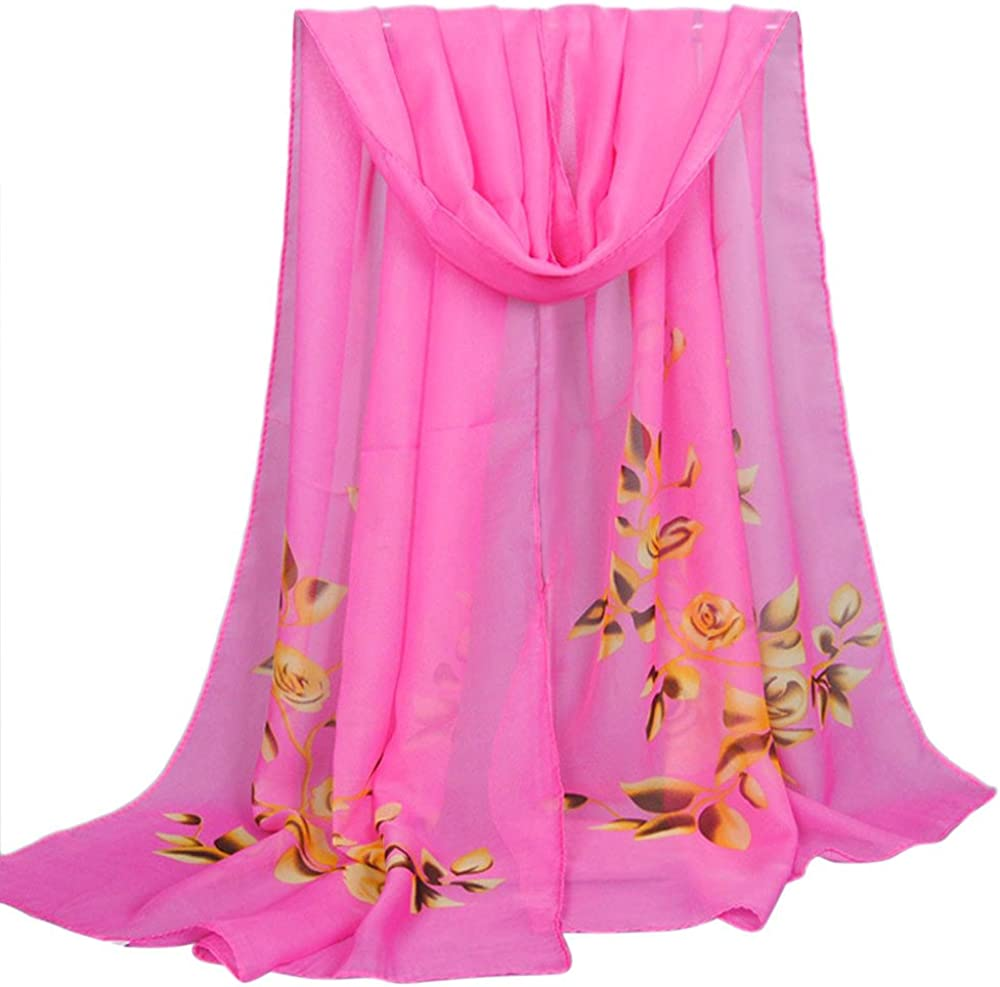 Becoler Women's Soft Chiffon Shawls for Evening Dresses Fashion Long Scarves Wraps for Bridal Wedding Party