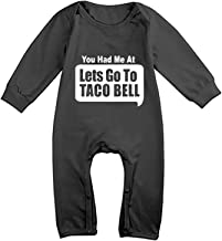 You Had Me at Lets Go to Taco Bell Funny Baby Girl Casual Clothes Long Sleeve One-Piece Suit Romper Home Outfit