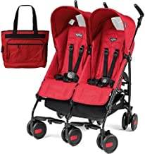 Peg Perego - Stroller Pliko Mini Stroller Twin Mod Red with Diaper Bag