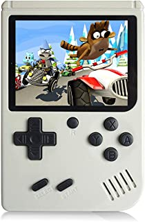 Chilartalent Handheld Games Console for Kids Adults - Retro Video Games Consoles 3 inch Screen 168 Classic Games 8 Bit Game Player with AV Cable Can Play on TV (White)