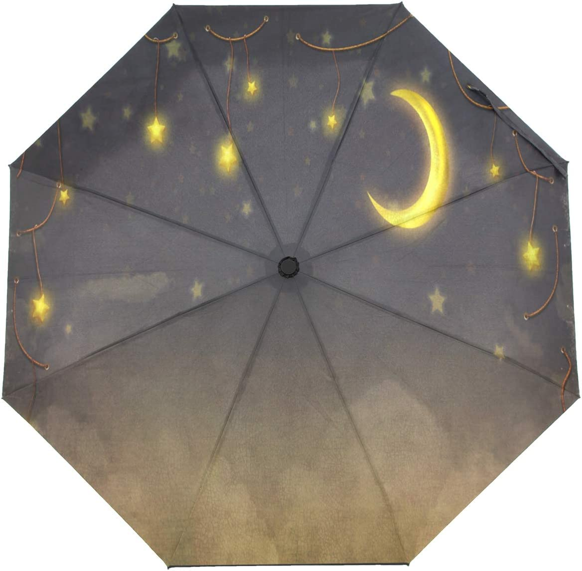 OREZI Automatic Open Close Folding Fantastic Umbrella outlet New life Stars Moon