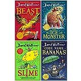David Walliams Collection 4 Books Set (The Beast of Buckingham Palace, The Ice Monster, Slime, Code Name Bananas)