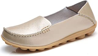 VenusCelia Womens Comfort Walking Gold Size: 4.5