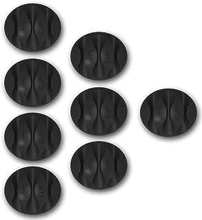 JOTO Kabelclips, Cord Management System [8 stuks], bureau-wandkabelclip, computer, elektrisch, laad- of muiskabelhouder (d...