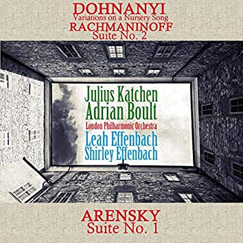 Dohnanyi: Variations on a Nursery Song / Rachmaninoff: Suite, No. 2 / Arensky: Suite, No. 1
