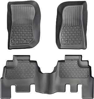 Tyger Auto TG-FMJ83078 Full Set Floor Mat Liners for 2014-2018 Jeep Wrangler JK 4-Door 3pc | Textured Black Floor Mats