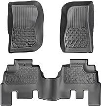 Tyger Auto TG-FMJ83078 Full Set Floor Mat Liners for 2014-2018 Jeep Wrangler JK 4-Door 3pc   Textured Black Floor Mats