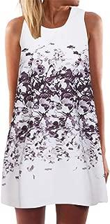 UONQD Summer Dresses for Women Vintage 3D Floral Bohe Tank Casual Short Mini Dress
