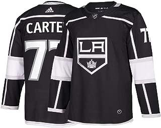 adidas Mens LA Kings Jeff Carter Authentic Pro Home Jersey Black
