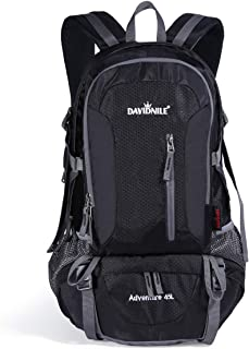 DAVIDNILE Hiking Backpack 45L Waterproof Outdoor Internal Frame Backpacks for Men and Women Travel Camping Climbing