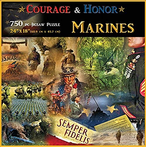 Americana Souvenirs and Gifts Courage and Honor Marines Puzzle by Americana Souvenirs and Gifts
