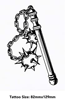 Large 'Twin Ball Flail' Temporary Tattoo (TO00033768)