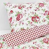 Valdern Rosali King Size Duvet Quilt Cover Bedding Set with Floral Rose Pattern 240 x 220 cm