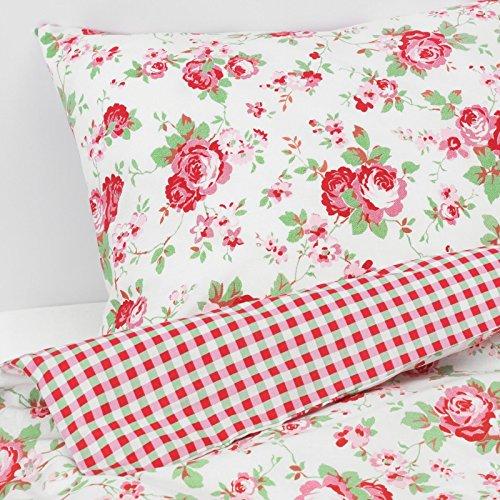 Valdern Rosali Bettwäsche-Set für Doppelbett, Blumenmuster, 200 x 200 cm