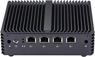 Linux Mini PC Ubuntu, Bay Trail j1900 Mini PC Quad core GHz, 4GB RAM 32GB SSD WiFi, 4 Gigabit LAN Mini PC X86