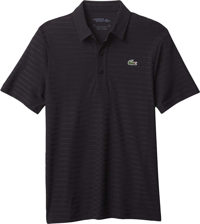 Lacoste Men's 日本 Sport Short 激安 Sleeve Shirt Jacquard Techincal Polo