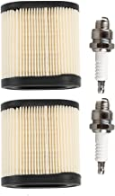 Anzac 36905 Paper Air Filter with Spark Plug for Tecumseh LEV100 LEV115 LEV120 OVRM105 OVRM65 TVS115 TVS120 5.5 HP Newer Sears mowers